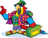 Parrot as tourists