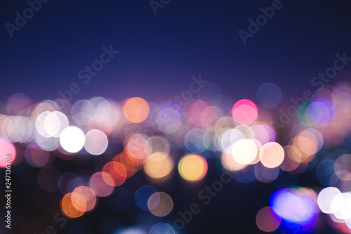 City light bokeh - 247136308