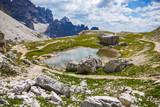 Piccola pozzanghera nelle dolomiti dell'Alto Adige