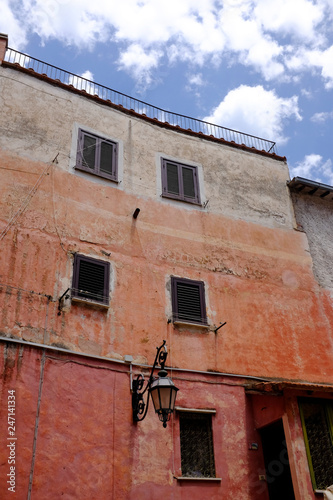 Pictorial abandoned old streets of Italian villages