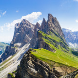 Mountain peak Seceda, Dolomites Alps, Italy