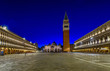 Quadro Night view of Basilica di San Marco and Campanile on piazza San Marco in Venice, Italy. Architecture and landmark of Venice. Night cityscape of Venice.