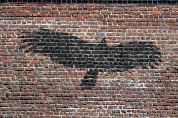 Street art. Un aigle