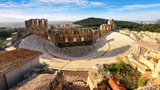 Ancient theater in summer day in Acropolis Greece, Athnes - 247173976