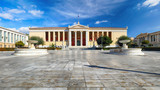 Building of the National & Kapodistrian University of Athens in Panepistimio is one of the landmarks of Athens, Greece - 247174927