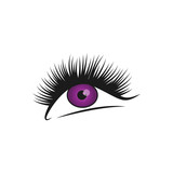 eyelashes graphic design vector