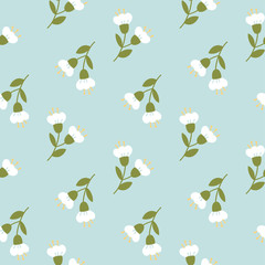 Seamless pattern with tender hand-drawn flawers. © pravdinal