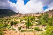 Panoramic view of Valldemossa in Mallorca.