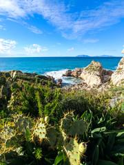 Seascape view sicily landscape holidays destination © fabioscrima