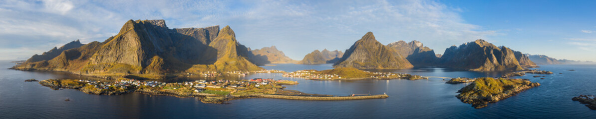 Drone view on Reine, Lofoten