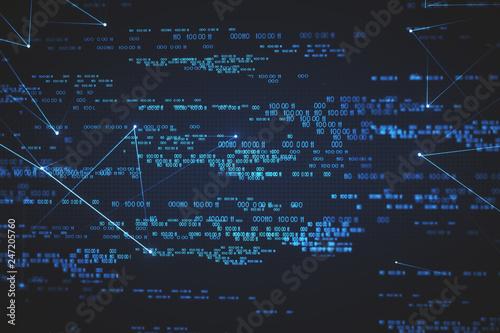 Digital numbers background © peshkov