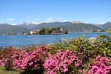 View to Isola Pescatori and Isola Bella at Lake Maggiore in spring, Italy