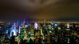 New York de nuit depuis l'Empire State Building