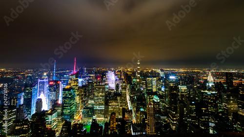 fototapeta na ścianę New York de nuit depuis l'Empire State Building