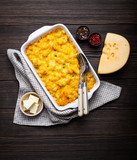 Macaroni and cheese in casserole - 247214590