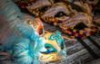 Quadro Beautiful and bright carnival Venetian masks close-up.
