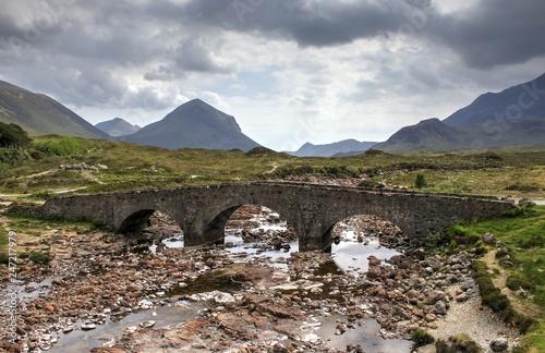 Sligachan Old Bridge auf der isle of skye, Schottland.