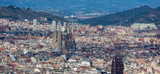 Panoramic cityscape of Barcelona (Spain)