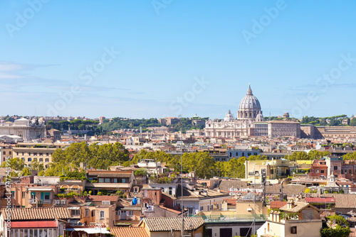 fototapeta na ścianę Aerial view of Rome with Saint Peter Basilica