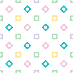 Geometrical seamless pattern. Retro circle pattern. Dotted round seamless background, ornament for wrapping paper, fabric, textile, website. Vector illustration.