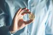 man hand bitcoin - 247265361