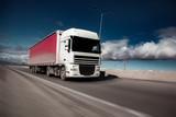 truck on road  in winter - 247267719