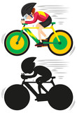A cycling athlete character