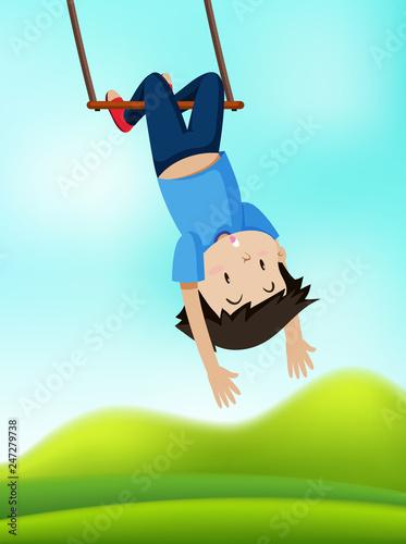 A boy on swing - 247279738