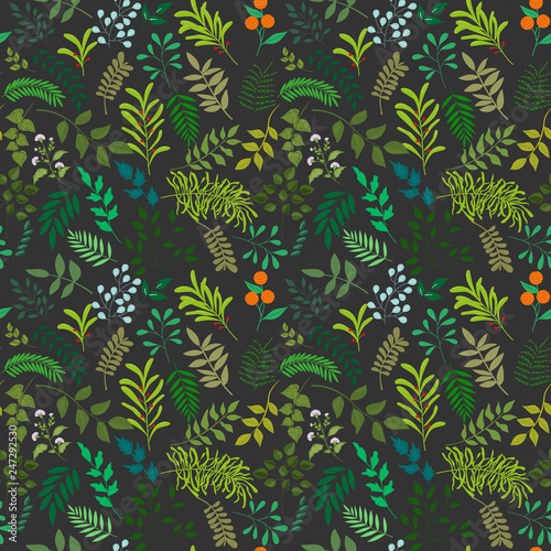 Fashionable pattern in small flowers. Floral seamless background for textiles, fabrics, covers, wallpapers, print, gift wrapping and scrapbooking. Raster copy - 247292530