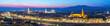 Quadro Florence Italy, sunset panorama city skyline