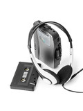Old cassette player and headphones - 247296356