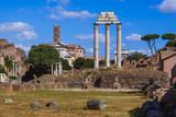 Roman forum ruins in Rome Italy - 247296381
