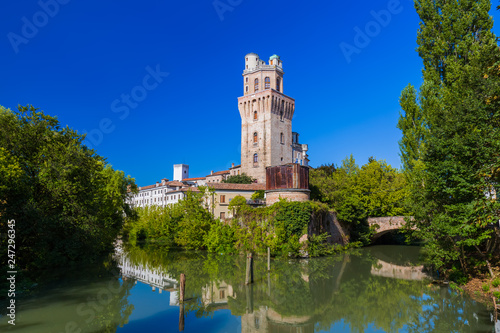 Leinwanddruck Bild Galileo Astronomical Observatory La Specola Tower in Padova Italy
