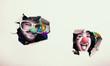 Freunde Paar Mann und Frau als Clown verkleidet  - 247302134