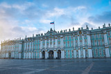 winter palace in the city of St. Petersburg. - 247317140