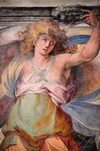 """Постер, картина, фотообои """"Dettaglio di affresco dalla Basilica S. Nereo e Achilleo in Roma"""""""