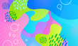 Vector blobs abstract background. Colorful liquid shapes.