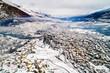 Quadro  Valtellina (IT) - Sondrio - Vista aerea verso est con frazioni