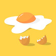 Tasty fried egg for breakfast. Delicious food - 247340951