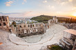 Athens, Greece. The Odeon of Herodes Atticus in Acropolis. Popular travel destination