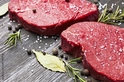 Zobacz obraz Fresh raw meat with spice