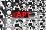 APT concept blurred background 3d render illustration