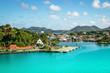 Leinwanddruck Bild - Castries, St Lucia cruise port.