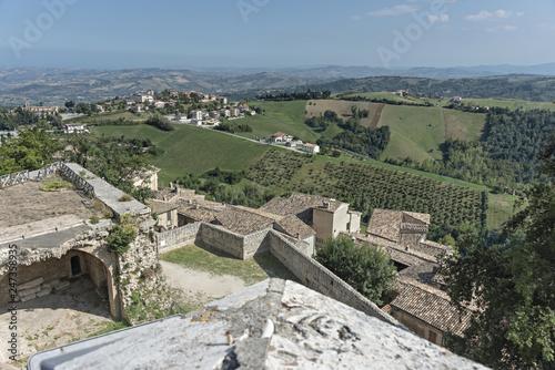 Italia Marche Civitella del Tronto città fortezza vedute del forte panorama © Cornelio