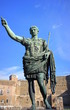 ROME, ITALY - DECEMBER 29: Bronze statue of Augustus, the first emperor of Rome and father of the nation, Rome, Italy.
