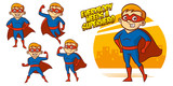 Superhero character Superheroes Set Vector illustration design - 247360735