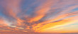 Panoranic Sunrise Sky with colorful clouds