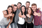 creative business team pointing at you - 247373786