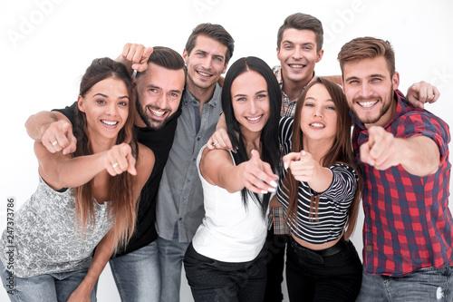 Leinwanddruck Bild creative business team pointing at you