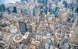 Quadro New York City from the sky, Manhattan view from helicopter